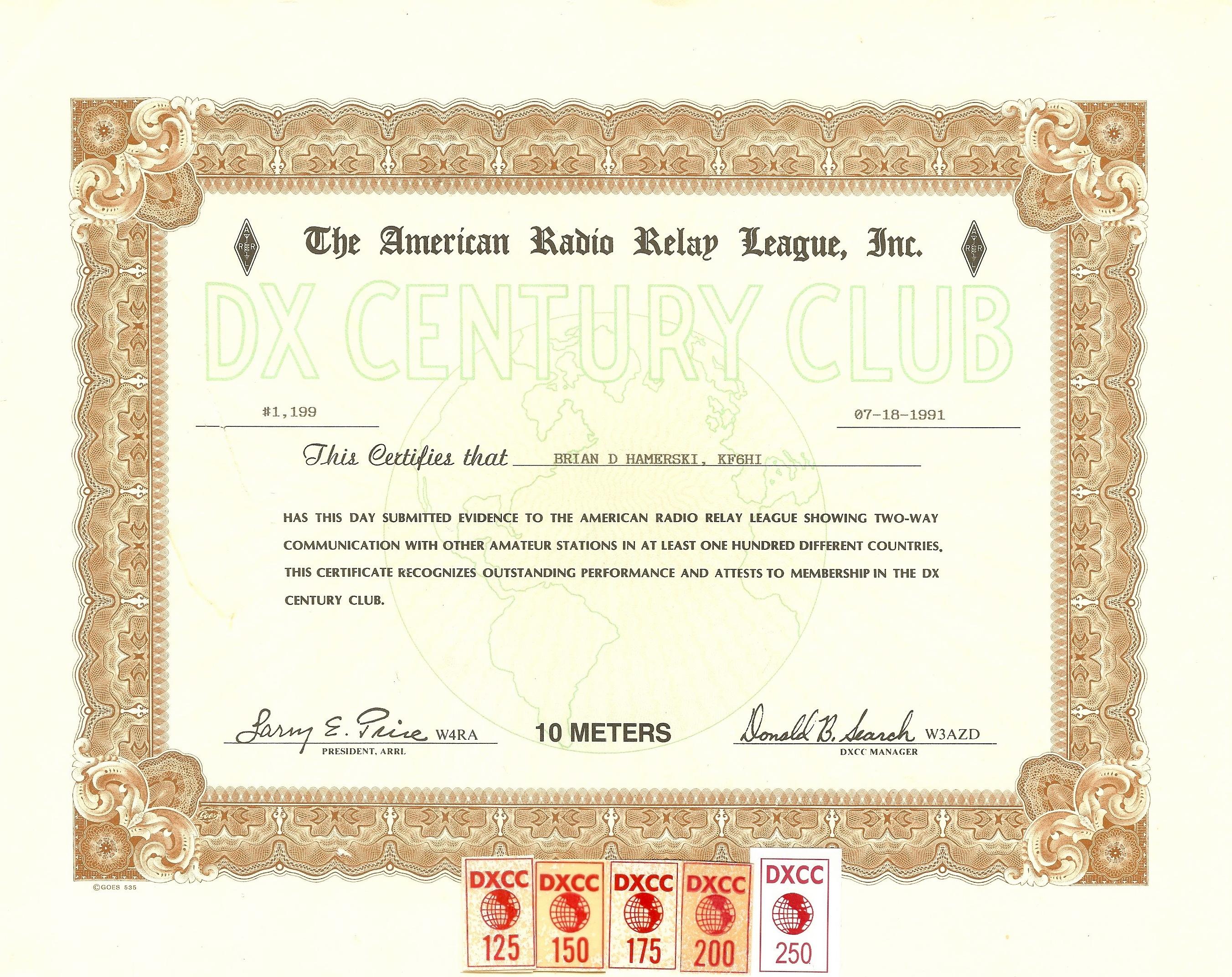 KF6HI Achievements